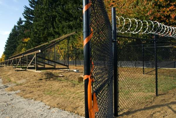 The project is surrounded by security fencing. Image courtesy of the Oregon Department of Transportation.