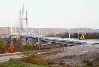 View of bridge from Maysville, Kentucky shore