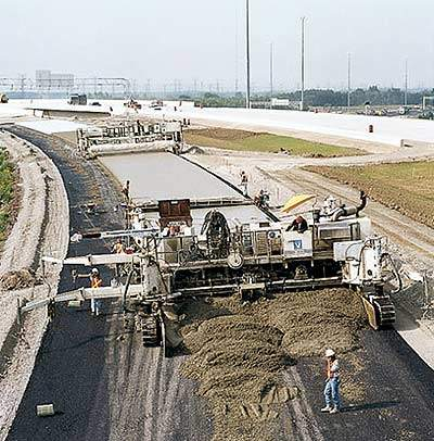 Highway during construction.