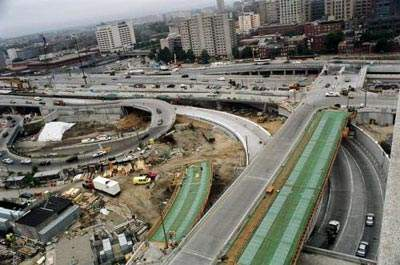 I-90 to I-93 interchange.