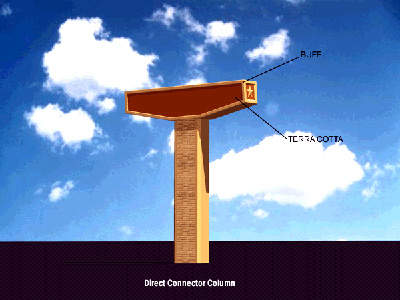 As this direct connector column shows, the color scheme for the CTTP makes use of buff and terracotta.