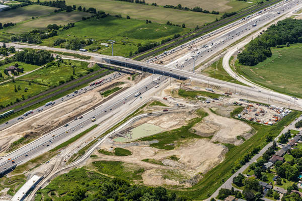 The first phase of the Highway 407 extension from Brock Road to Harmony Road was opened in June 2016. Image: courtesy of 407EDG.