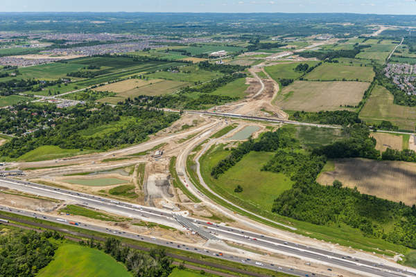 Phase two construction of Highway 407 east project will be completed in two portions. Image: courtesy of 407EDG.
