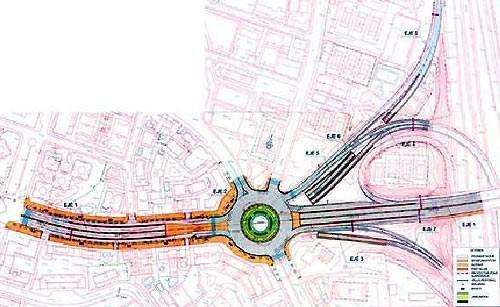 Nudo de la Costa Rica road layout plan.