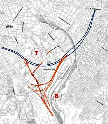 M30 south projects include the By-pass Sur and the Conexión Embajadores con M-40.