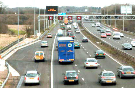 Emergency Refuge Areas (ERA) at frequent intervals along the hard shoulder will be equipped with emergency phones and CCTV cameras.