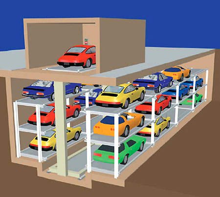 Under-street parking is more cost effective than other schemes on a per parking space basis.