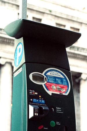 The new pay stations are able to process on-line credit card transactions.