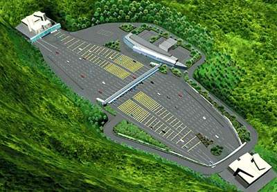 A toll plaza is located in the valley between Eagle's Nest Tunnel and Sha Tin Heights Tunnel.