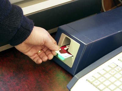 SMART card recharging.