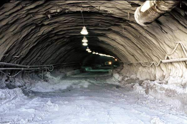 Addison Airport tunnel was excavated to a horseshoe configuration 40ft-wide by 28ft-high.