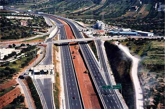 The Attiki Odos motorway was begun in 1997 and cost $1.8bn.