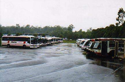 A bus depot in Brisbane.