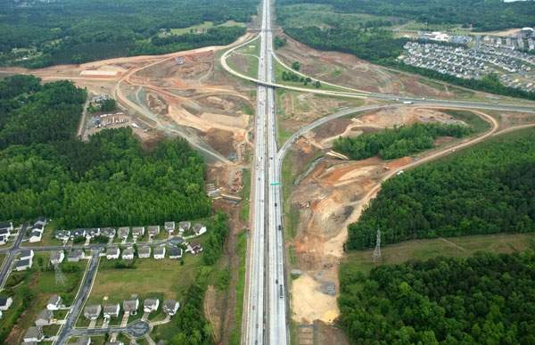 The I-485 Outer Loop is expected to be completed by the end of 2014. Image courtesy of NCDOT communications.