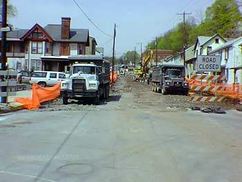 Removing the old concrete and bituminous pavement for the reconstruction of Erie Street in Dauphin B