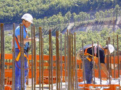 Millau Viaduct, France building site