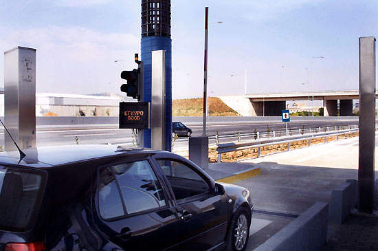 Electronic Toll Collection involves a transponder placed on the windscreen of the vehicle transmitting an identification signal to the antennas at the toll stations that charges the toll amount automatically.
