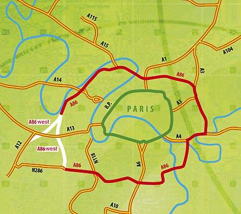 The A86 West will form the final link of the A86 ringroad around Greater Paris.