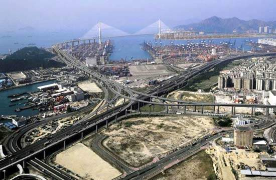 The Stonecutters Bridge, when completed, will be a major new landmark for Hong Kong.