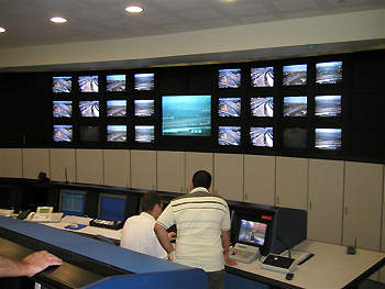 Control room at the Highway Operations and Maintenance Centre (HOMC).