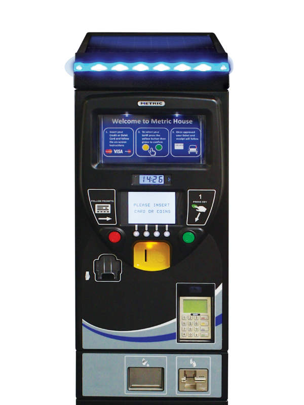 Pay-and-display parking machine