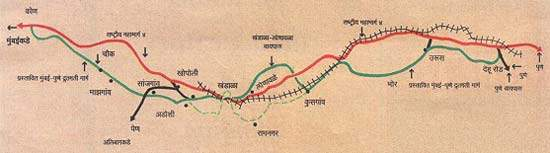 Map of the entire Mumbai-Pune Expressway.
