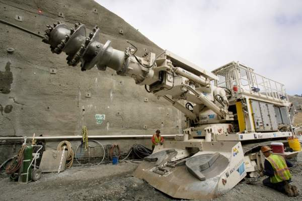 A 130t Wirth roadheader started excavation on the tunnel in August 2010. Image courtesy of John Huseby, Caltrans.