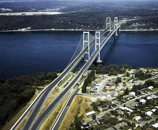The new Tacoma Narrows bridge will be 5,400ft long and will comprise two eastbound general-purpose lanes, one HOV lane and a bicycle/pedestrian lane.