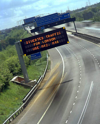 The National Traffic Control Centre (NTCC) provides free, real-time information on England's network of motorways and trunk roads to road users, allowing them to plan routes and avoid congested areas.