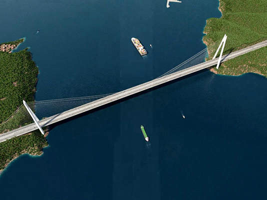 The Yavuz Sultan Selim Bridge (3rd Bosphorus Bridge) is an integral part of the Northern Marmara Motorway Project and is being constructed over the Bosphorus Strait in Istanbul, Turkey. Image: courtesy of ICA (IC İçtaş Construction).