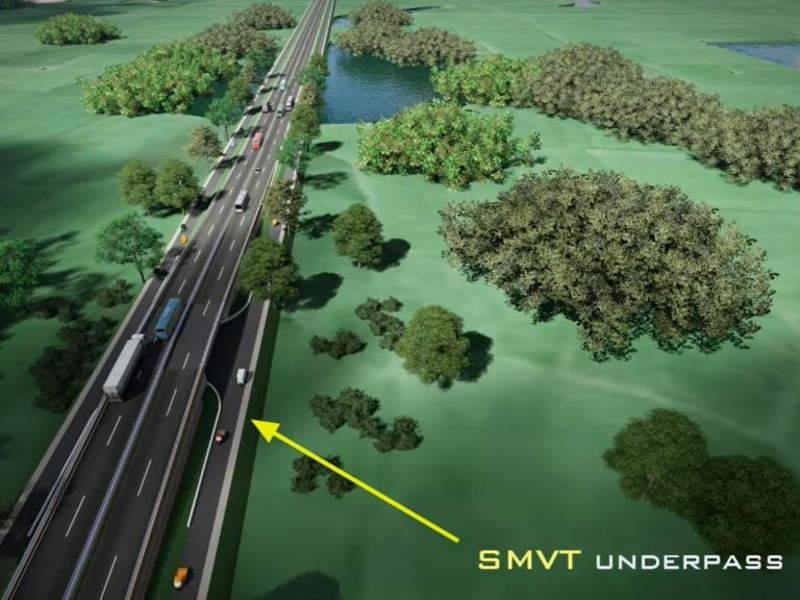 The Dhaka-Northwest International corridor is being upgraded to improve transport access to Burimari Land Port. Image courtesy of Asian Development Bank.