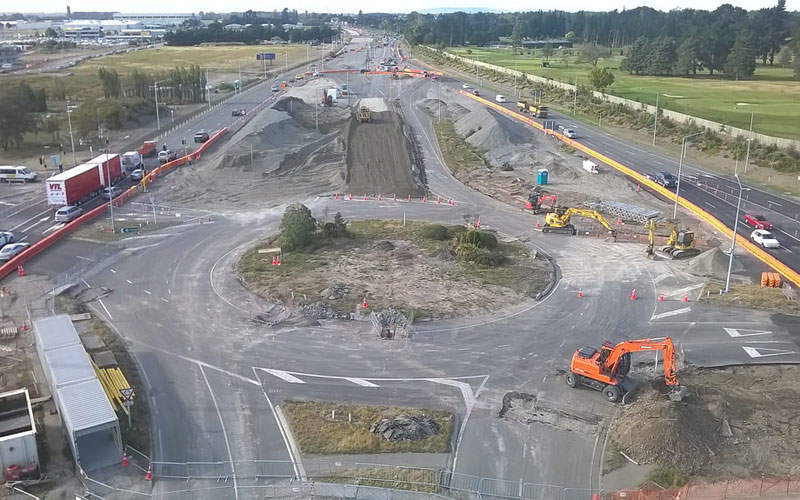 SH1 Russley Road between Wairekei Road and Yaldhurst Road is being upgraded at a cost of $112m. Credit: NZ Transport Agency.