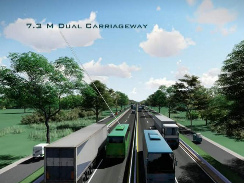 The project will upgrade the corridor from two to four lanes. Image courtesy of Asian Development Bank.