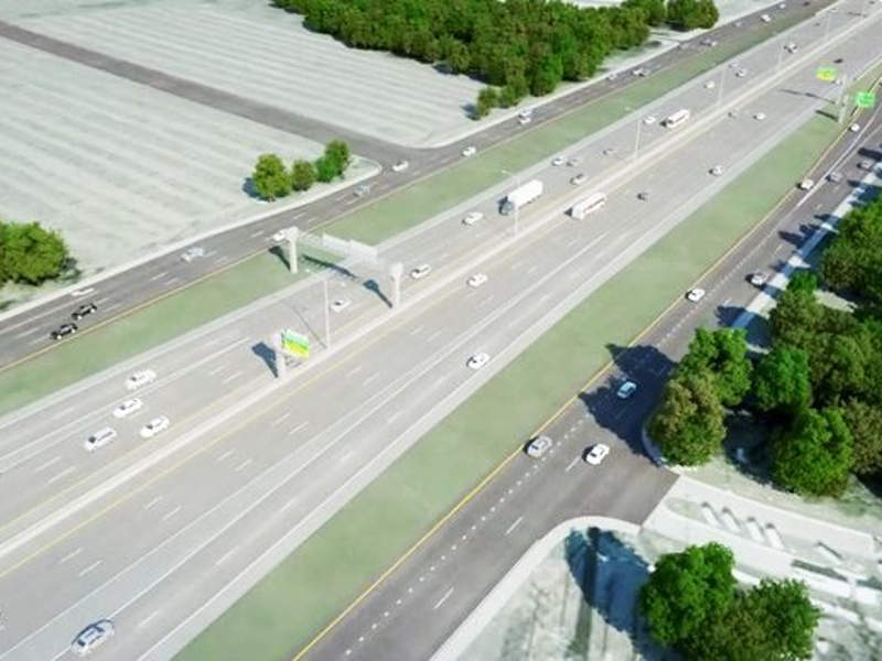 Texas Department of Transportation (TxDOT) is currently undertaking improvement works on the US 281 from Loop 1604 to Borgfeld Drive in Bexar County. Image courtesy of Ferrovial.