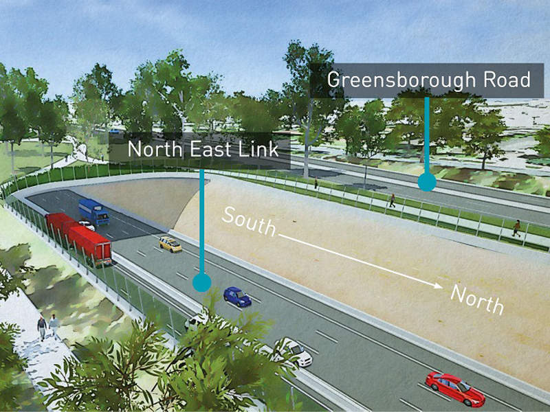 The North East Link project will complete Melbourne's Metropolitan Ring Road. Image courtesy of North East Link Authority.