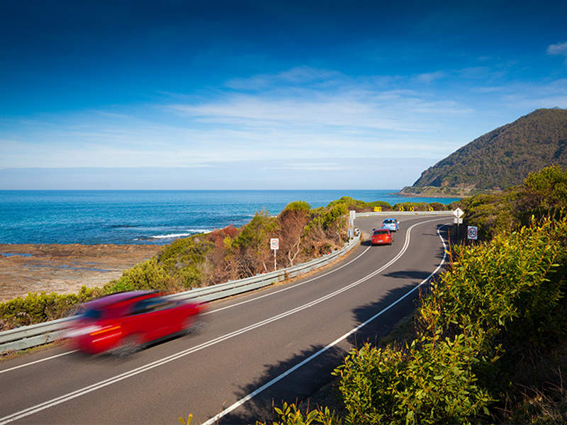 Number of deaths on the deteriorated Great Ocean Road will be reduced, upon completion of the upgrade. Image courtesy of Transport Accident Commission.