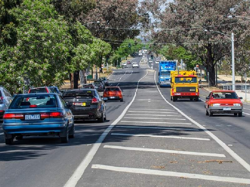 The Napier Street upgrade includes improvements between Weeroona Avenue and Hall Street in Bendigo. Image courtesy of VicRoads.