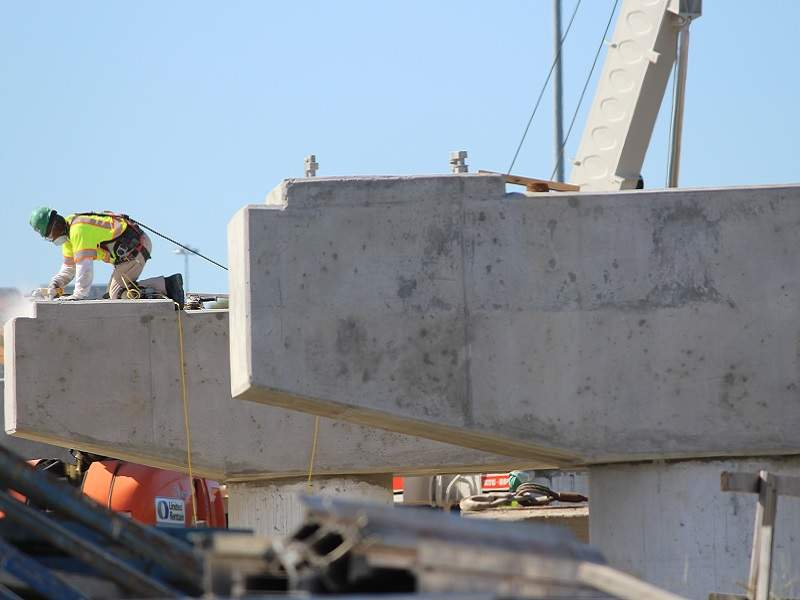 Construction of bridge piers completed between Kempsville and Newtown Roads. Image courtesy of VDOT.