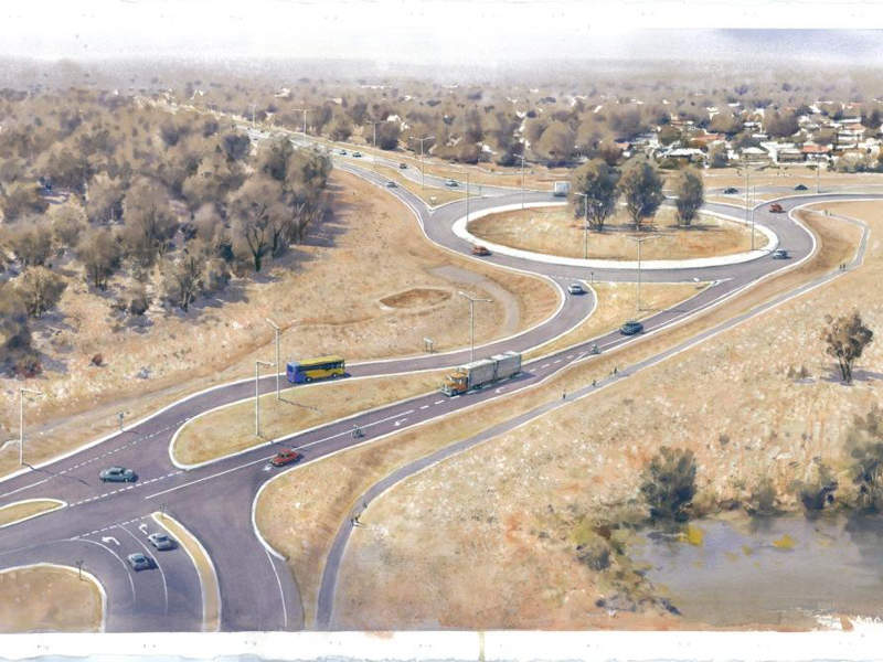 The Echuca-Moama Bridge project also includes road and intersection upgrades. Image courtesy of Vicroads.