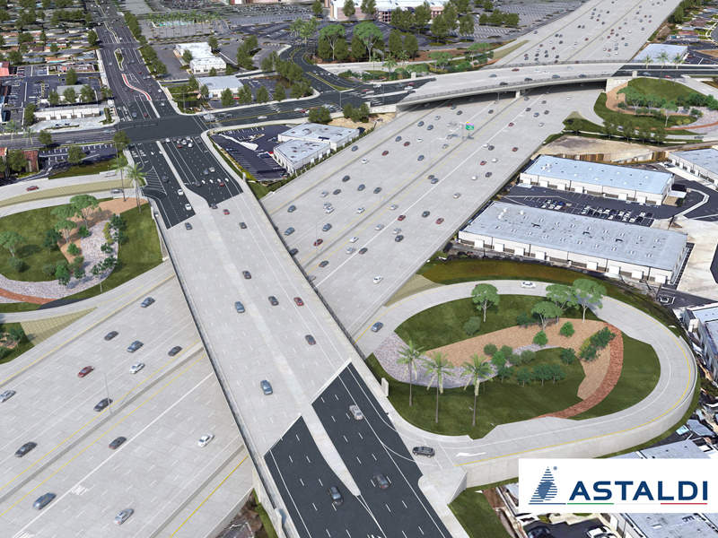The I-405 improvement project is expected to be completed in 2023. Image courtesy of Astaldi S.p.A.