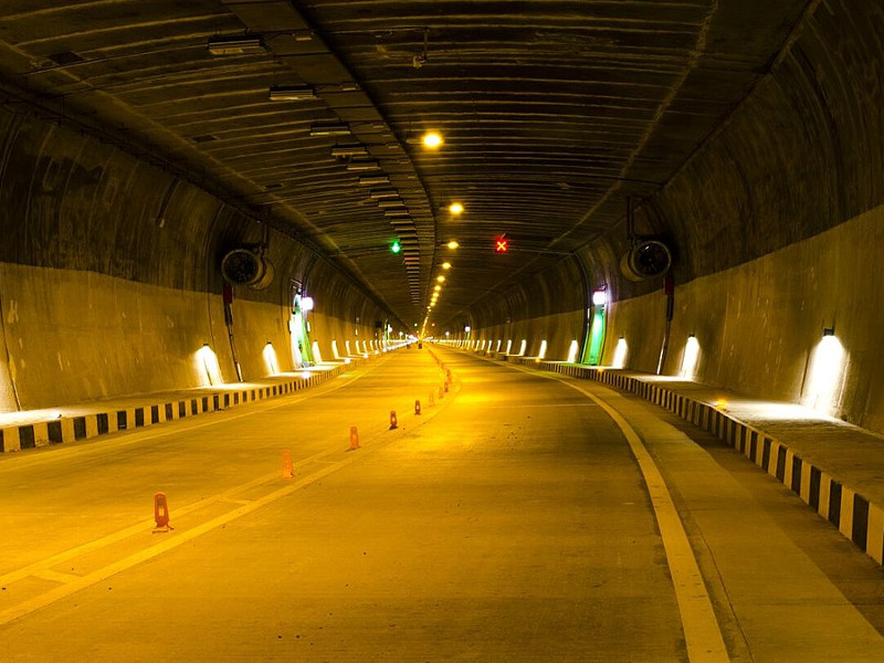 Dr. Syama Prasad Mookerjee Tunnel is located at the foot of the Himalayan Mountains. Credit: Sidheeq.