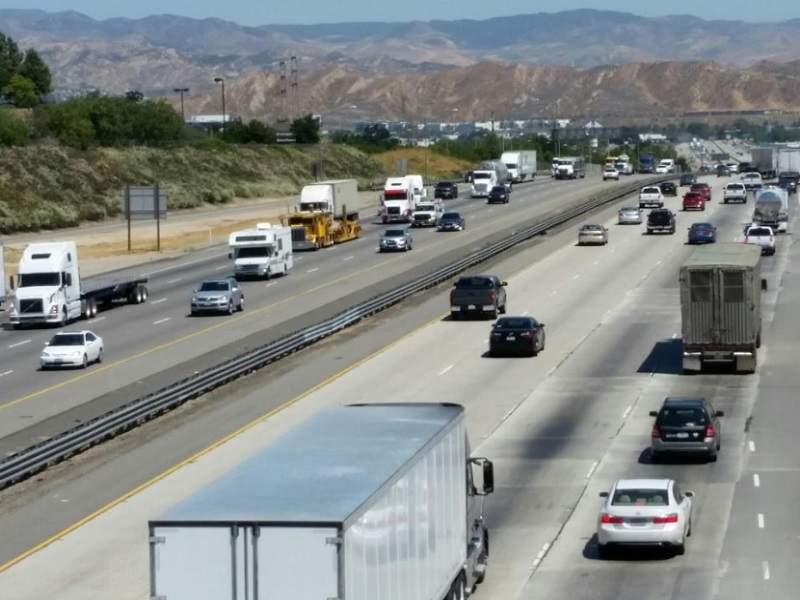 The I-5 South County improvements project involved the addition of six miles of carpool lanes. Image courtesy of State of California Department of Transportation.