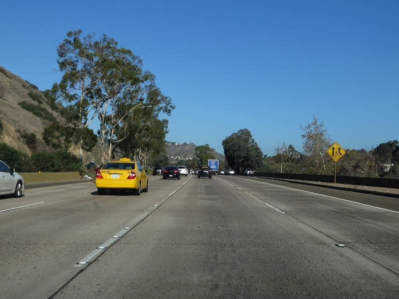 The I-5 highway is one of the busiest and most congested freeways. Credit: Ken Lund.