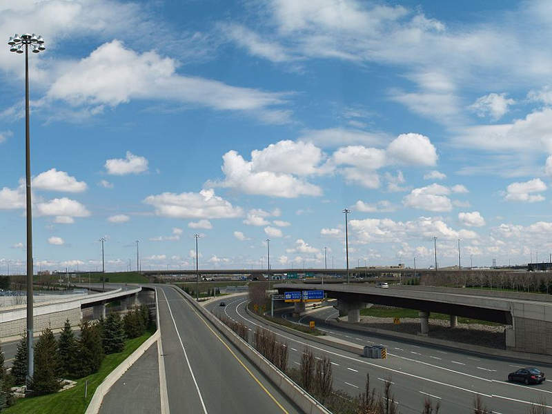 Construction on the Highway 427 expansion project began in May 2018. Image courtesy of Floydian.