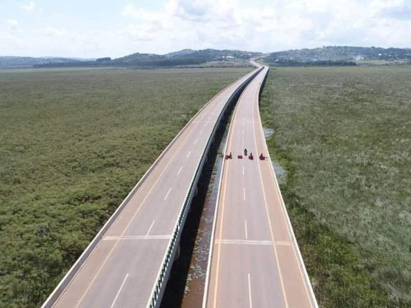 The Kampala-Entebbe Expressway connects Northern Bypass in Kampala to Entebbe International Airport. Image courtesy of Ministry of Works & Transport.