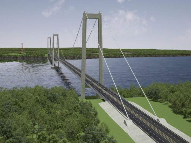 The 2.75km-long Chacao bridge is expected to become the longest suspension bridge in South America. Credit: SYSTRA.