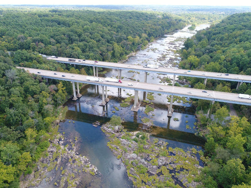 Southbound (SB) Rappahannock River Crossing project is one of the biggest transportation projects being developed in Fredericksburg, Virginia. Image courtesy of VDOT.