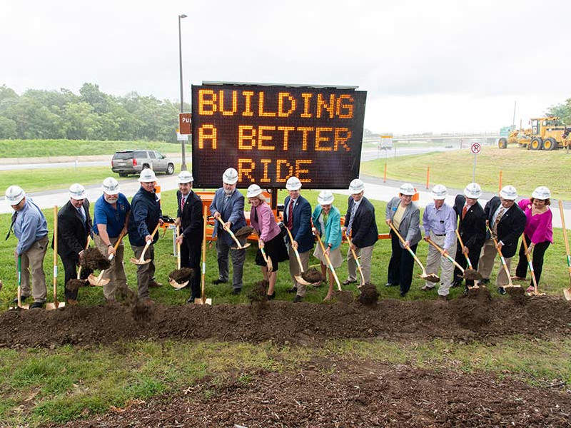 Ground-breaking ceremony of the Southbound Rappahannock River Crossing project was held in August 2018. Image courtesy of Wagman, Inc.