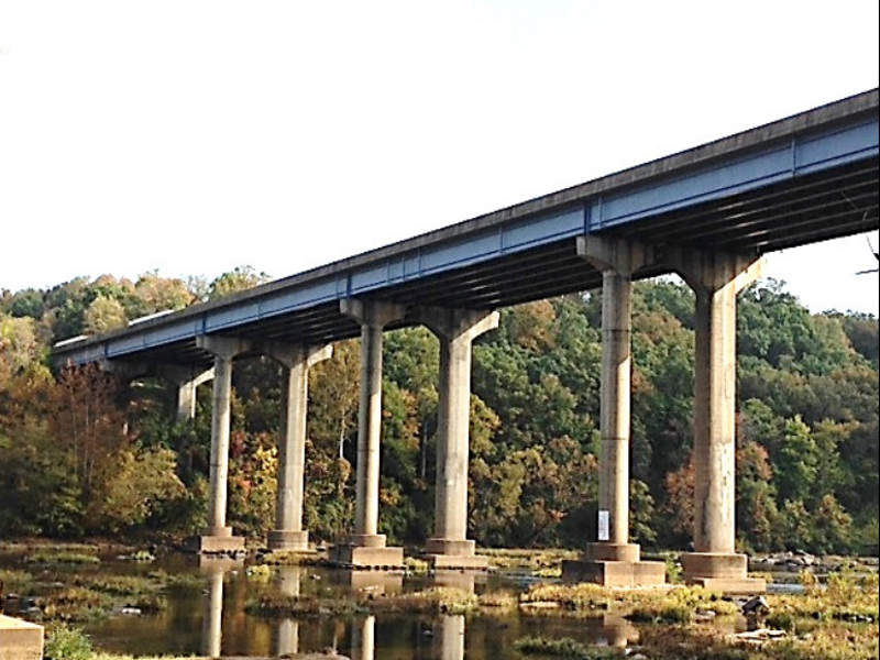 The project also includes the construction of a new bridge over the Rappahannock River. Image courtesy of VDOT.