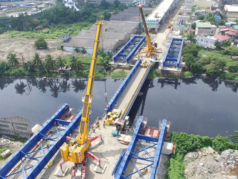 The NLEX Harbor Link Segment 10 between Karuhatan and C3 Road is expected to be operational by the end of 2018. Image courtesy of CPB Contractors Pty Limited.